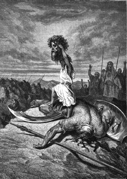 Dore, Gustave: David Slays Goliath. Fine Art Print/Poster (4928)